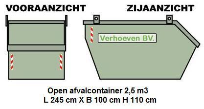 Afzetcontainers (2,5 m³) | Verhoeven BV