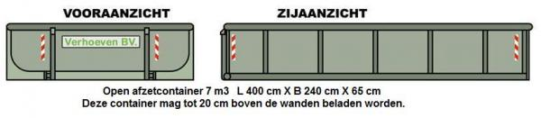 Afzetcontainers (7 m³) | Verhoeven BV