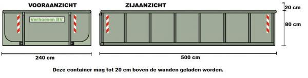 Afzetcontainers (12 m³) | Verhoeven BV