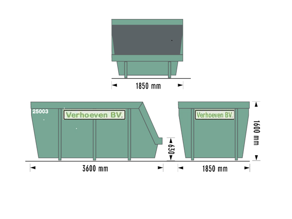 Portaalcontainers (10 m³) | Verhoeven BV